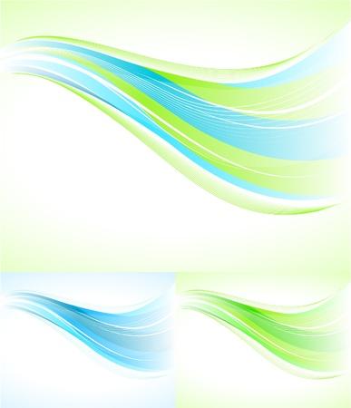 vent: R�sum� de fond avec des lignes fluides Illustration