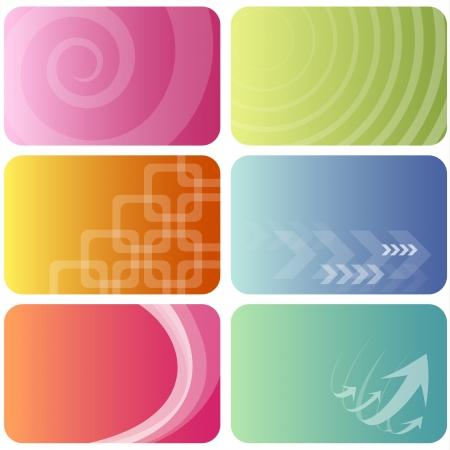 Business cards templates set  Illustration