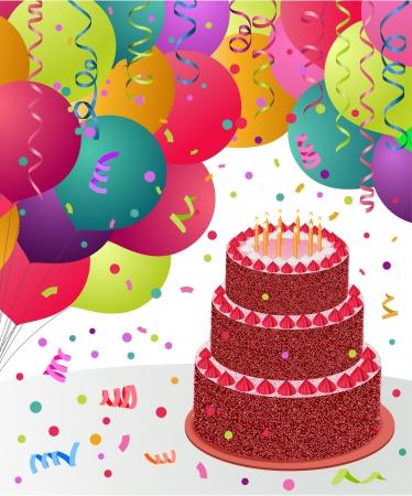 felicitaciones de cumplea�os: Feliz cumplea�os tarjeta de felicitaci�n Vectores