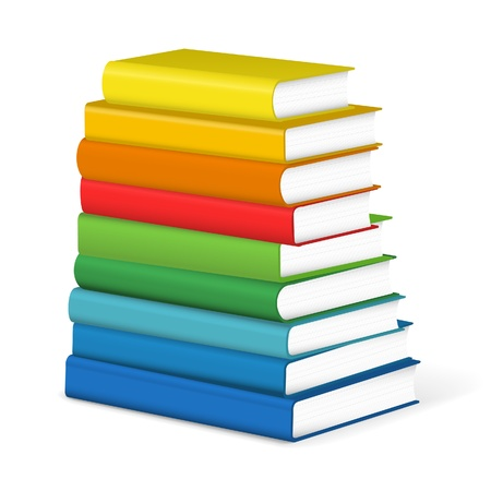 stacked books: Colorful books stack Illustration