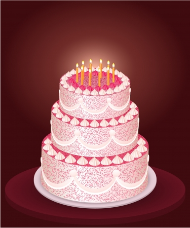 wedding table decor: Festive cake illustration Illustration