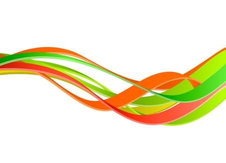 Kleurrijke golven achtergrond Stock Illustratie