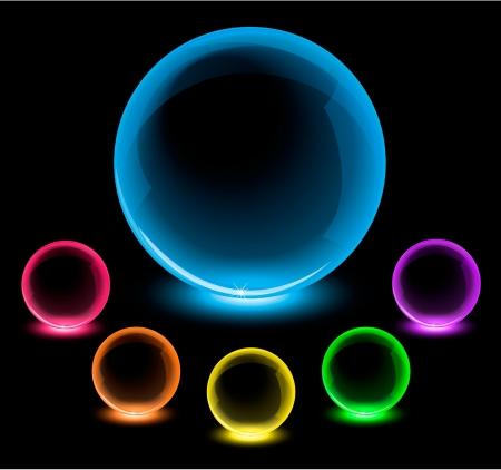 Glossy glowing spheres