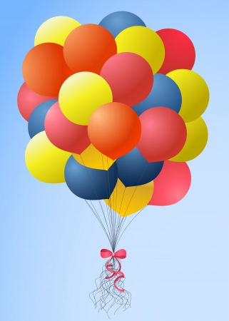 Balloons bouquet Vector