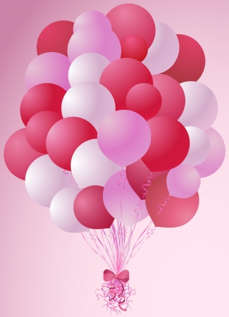 Romantic balloons bouquet Vector