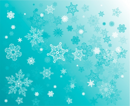 Snowfall winter background Stock Vector - 15204816