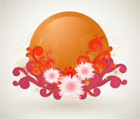 Summer abstract illustration  Vector