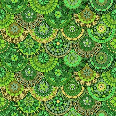 Ethno-style seamless ethnic pattern Illustration