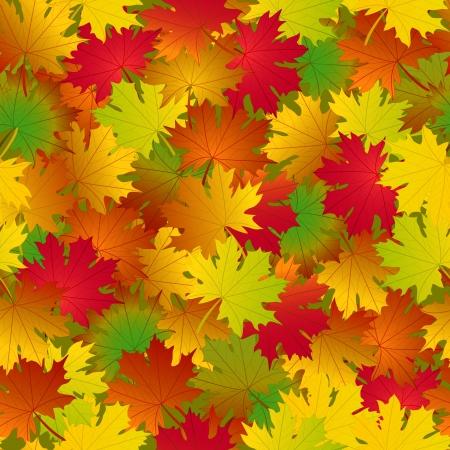 Seamless autumn pattern Illustration