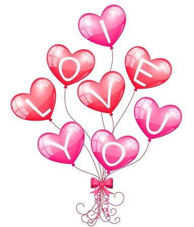 lazo rosa: Te amo globos