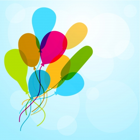 simplistic: Balloons flying up to sky
