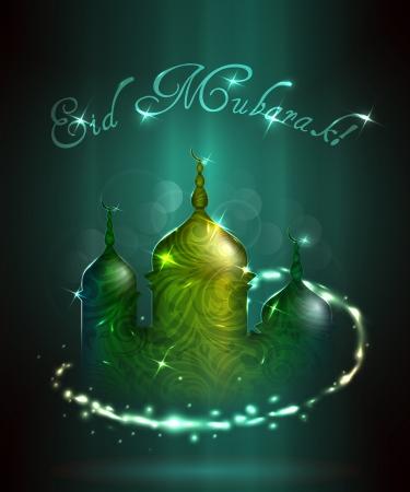 Eid Mubarak greeting illustration  Illustration