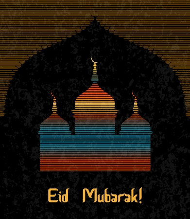 Eid Mubarak greeting illustration  Stock Illustration - 15899003