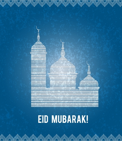 Eid Mubarak greeting illustration  Stock Photo