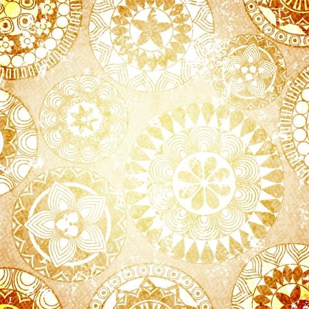 Grunge vintage design with ethnic elements photo