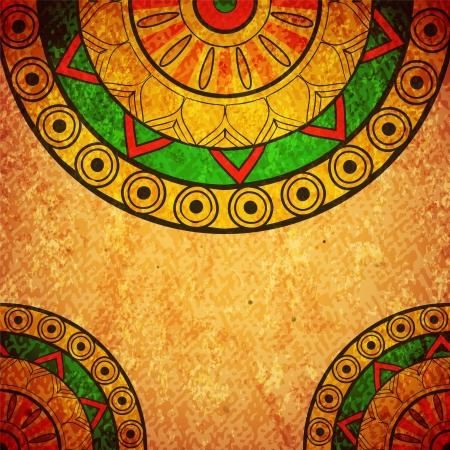 Grunge vintage design with ethnic elements