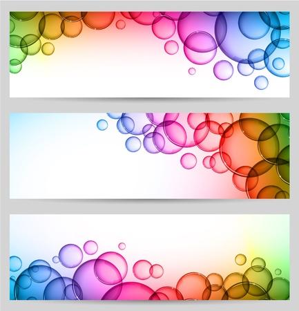 soap bubbles: Bubble-Banner Illustration