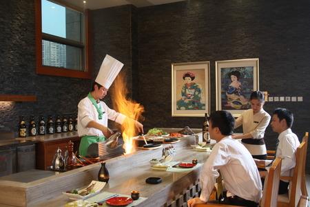 Five-star hotel restaurant Editorial