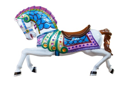 colorful horse statue Stock Photo