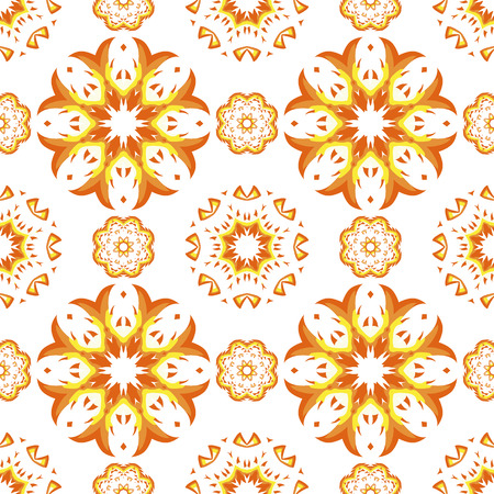 seamless pattern floral: Vintage vector seamless pattern. Floral mandala ornament.