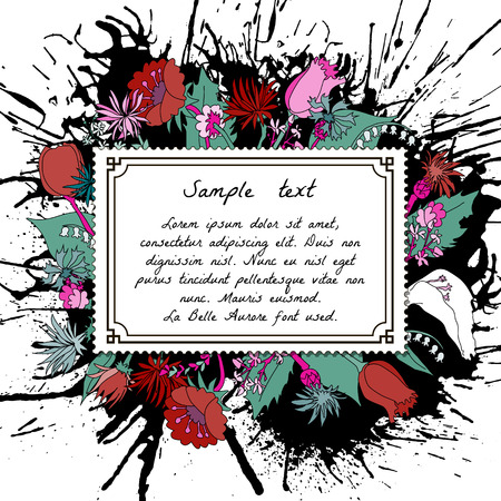 champ de fleurs: Conception de toile de fond abstrait avec des fleurs des champs et des transferts et le lieu pour votre texte