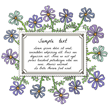 field flowers: Abstract backdrop design with field flowers and place for your text