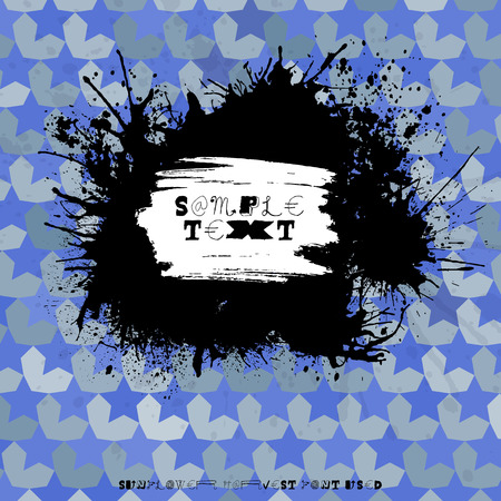 splodge: Grunge splodge card. Abstract backdrop design with blots and place for your text Illustration
