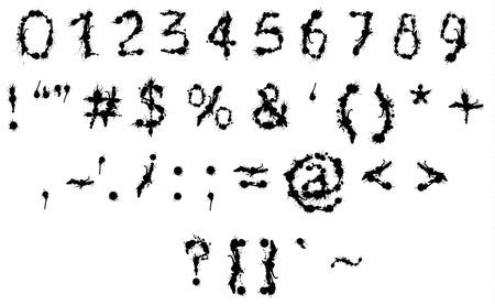 inkblot: Graffiti Splatter inkblot letter. Black grungy messy character.