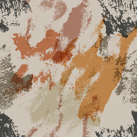 sloppy: Seamless pattern with ink skin imprints. Sloppy strokes of a paint. Vector illustration. Illustration