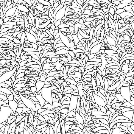 repetition: Marine algae seamless pattern. Repetition texture with underwater plants. Vector illustration. Illustration