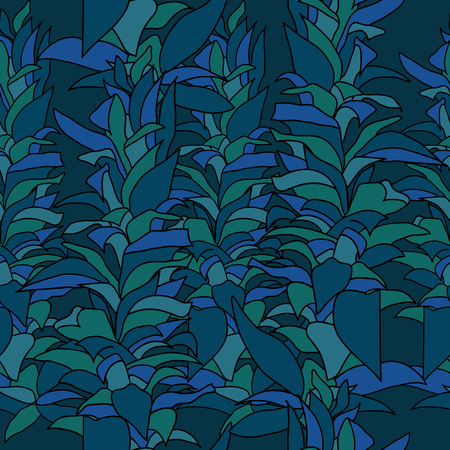 repetition: Marine algae seamless pattern. Repetition texture with underwater plants.