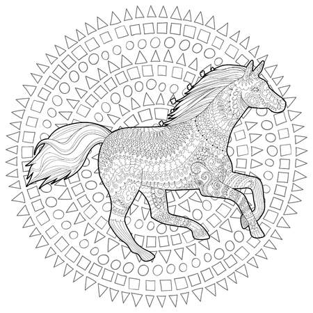Adult coloring page for antistress art therapy.