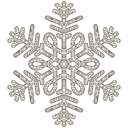 Antistress Snowflake. Template For Cover, Poster, T-shirt Or ...