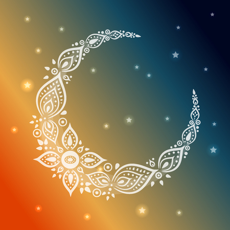 Ornate crescent moon for the ramadan greeting card stock photo ornate crescent moon for the ramadan greeting card stock photo 79305654 m4hsunfo