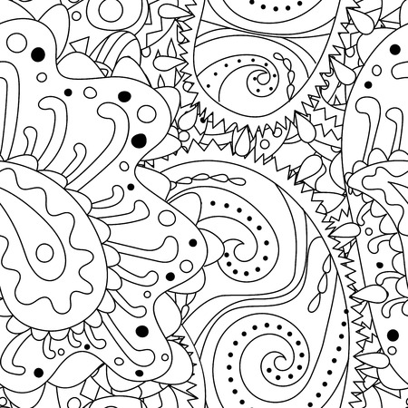 chaotic: Seamless pattern with abstract ornaments.