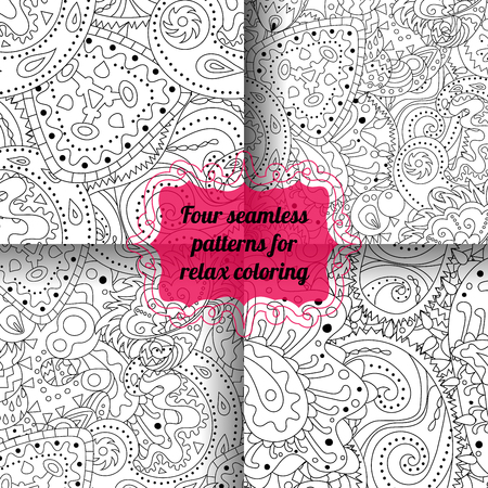 Set of antistress coloring pages