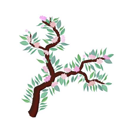 Illustration of delicate spring branch
