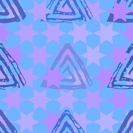 Seamless pattern with textured messy grunge triangles 스톡 콘텐츠 - 123192733