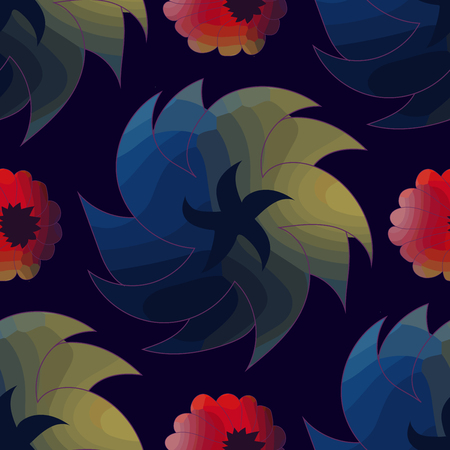 Seamless pattern with beautiful flowers.