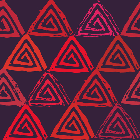 Seamless pattern with textured triangles Illustration