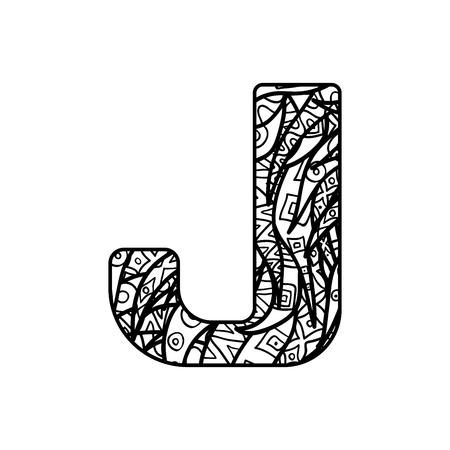 Vector alphabet with ornate ornament. 일러스트