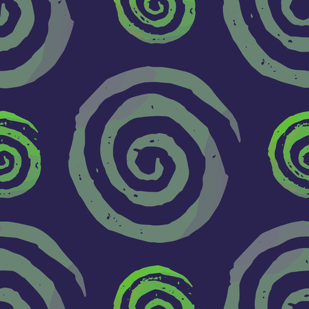 Seamless pattern with textured spirals. Endless texture for unusial wrapping or textile print with messy design.