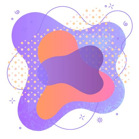 Abstract spot design for effective marketing. Bright decoration element for sale banner. Vector illustration for print design, cover, poster or advertising.