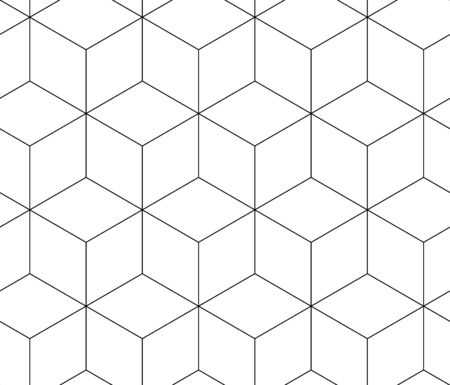 Abstract cubes for wallpaper design. Creative vector element. Vector outline illustration. Seamless pattern tile. Graphic design geometric shape.