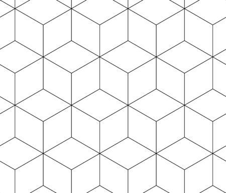 Abstrakte Würfel für die Tapetengestaltung. Kreatives Vektorelement. Vektor-Umriss-Abbildung. Nahtlose Musterfliese. Geometrische Form des Grafikdesigns.