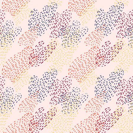 Trendy seamless pattern with smooth dotted fluid spots.
