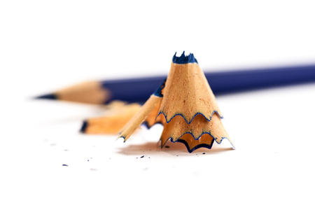 A view of a pencil on white background