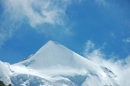 Close-up of Silberhorn Peak in the Swiss Alps