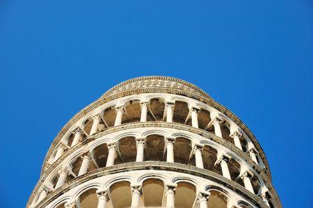 Bovenkant van toren van Pisa