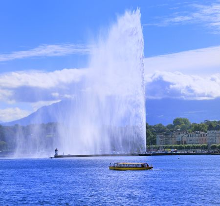 Geneva lake front and the Jet dEau .